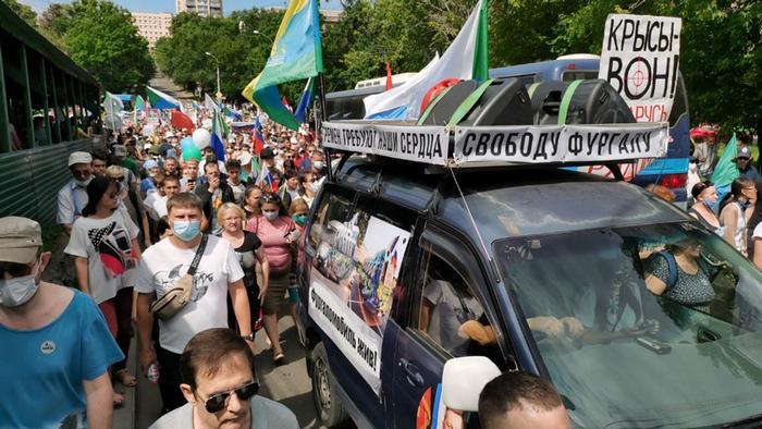 Фургаломобиль: один из главных символов протестов в Хабаровске