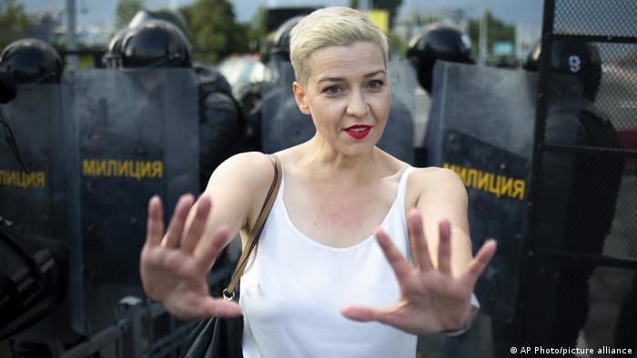 Один из лидеров белорусской оппозиции Мария Колесникова