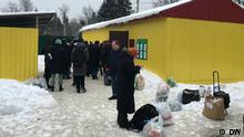 Russland JVA Sacharowo bei Moskau | Angehörige von bei Nawalny-Protesten Verhafteten