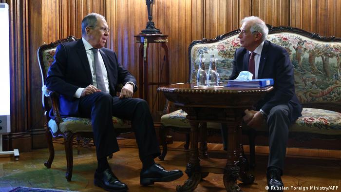 Russland | Josep Borell trifft Außenminister Sergei Lavrov in Moskau