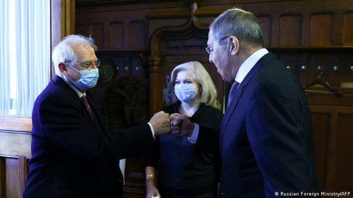 Жозеп Боррель на встрече с Сергеем Лавровым 5 февраля