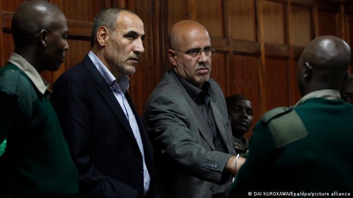 پلیس کنیا در سال ۲۰۱۲ میلادی دو نفر ایرانی به نامهای احمد ابوالفتحی (راست) و سید منصور موسوی (چپ) را به اتهام تروریسم دستگیر کرد. این افراد عضو نیروی قدس سپاه پاسداران انقلاب اسلامی معرفی شده و اتهام آنها انتقال تا ۱۰۰ کیلوگرم مواد منفجره اعلام شد. در آن زمان، سفیر ایران در کنیا قصد فراری دادن این دو نفر را داشت، ولی با شکست روبرو شد. این دو در دادگاه به حبس ابد محکوم شدند.