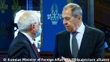 Russland Moslau | Außenminister Sergej Lawrow Treffen Josep Borell