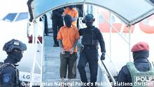 Indonesien Nationalpolizei (INP) hat 26 mutmaßliche Terroristen nach Jakarta verlegt