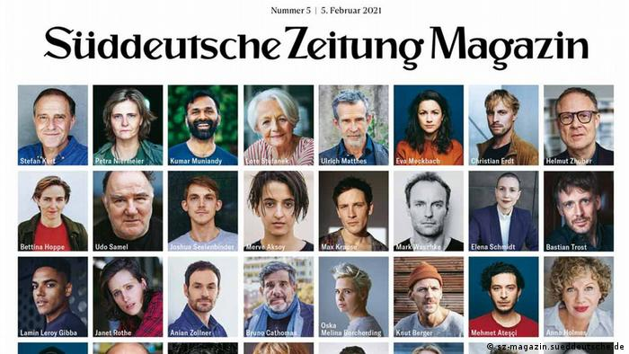 cover of Süddeutsche Zeietung Magazin with many small photos of people