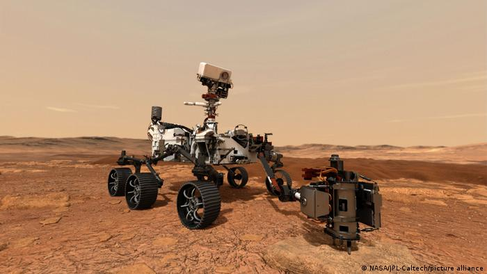 An illustration of the Mars 2020 rover Perseverance