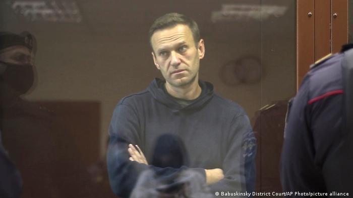 Российский политик Алексей Навальный в Бабушкинском районном суде, 5 февраля