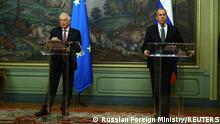Russland Treffen Borell - Lawrow