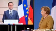 Deutsch-Französischer Sicherheitsrat | PK Merkel und Macron