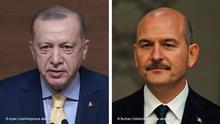Bildkombo Erdogan und Soylu
