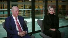 DW Interview Valery und Veronika Tsepkalo mit Konstantin Eggert