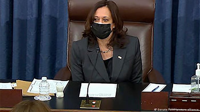 USA | US-Senat ebnet Weg für Bidens Corona-Hilfsplan | Kamala Harris