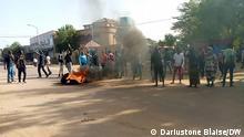 Tschad Strassendemonstration in N'Djamena