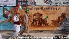 Indien Bauerproteste in Neu-Delhi