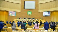 ***ACHTUNG: Bild nur zur mit den Rechteinhabern abgesprochenen Berichterstattung verwenden!*** via topona.eric Konferenzsaal Gipfeltreffen der Afrikanischen Union in Addis Abeba Rechte: Giscard Kusema/Press Office Presidency of DRC