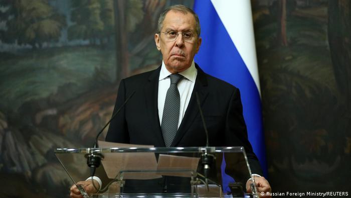 Министр иностранных дел России Сергей Лавров в Москве