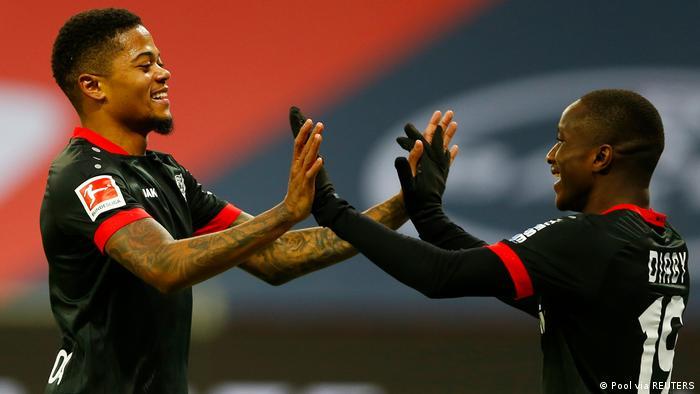 Deutschland Bundesliga - Bayer Leverkusen v VfB Stuttgart Jubel Bailey