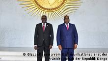 Äthiopien Der kongolesischen Präsidenten Felix Tshisekedi und der Präsident der Kommission der Afrikanischen Union, Moussa Faki Mahamat