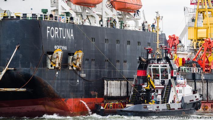 Судно-трубоукладчик Фортуна, участвующее в строительстве Северного потока - 2
