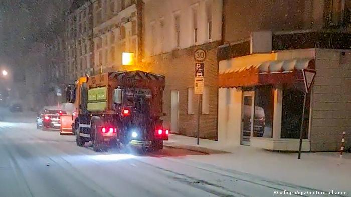 Bochum Winterwetter Verkehr