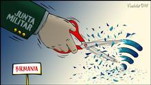 Karikatur von Vladdo zu Myanmar