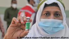 Bangladesch Sylhet  Corona   Start der landesweiten Impfkampagne