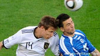Holger Badstuber fights for the ball