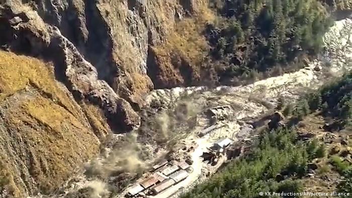 Indien Uttarakhand   Gletscherabbruch & Überschwemmung