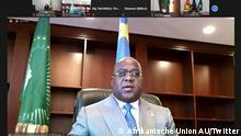 Screenshot Twitter Afrikanische Union AU I Felix Tshisekedi
