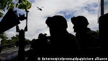 Sicherheitskräfte nehmen am 03.09.2017 an einem Großeinsatz gegen den Drogenhandel in Bogota (Kolumbien) teil. Nach dem Tod eines unter dem Alias Gavilan bekannten Drogenbandenchefs wurde eine große Ladung Kokain beschlagnahmt. Nach offiziellen Angaben war die Bande «Clan del Golfo» im Stande, mindestens 600 Kilo Kokain der Woche zu produzieren. Foto: Externos/colprensa/dpa +++ dpa-Bildfunk +++