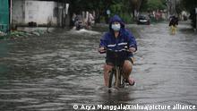 Indonesien Überschwemmung in Jakarta