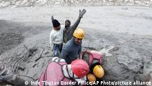 Indien Schlammlawine nach Gletscherabbruch