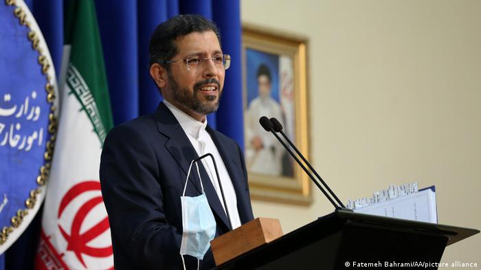 Spokesperson for the Iranian foreign ministry, Saeed Khatibzadeh, speaking in October
