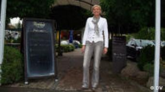 Birgit Fathmann in front of her hotel in Caputh