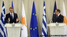 Präsident der Republik Zypern Nikos Anastasiadis mit Kyriakos Mitsotakis