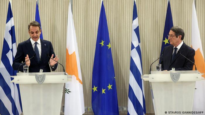 Yunan ve Kıbrıslı Rum liderler Mitsotakis ve Anastasiadis