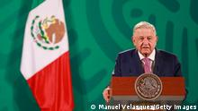 Mexiko Präsident Andres Manuel López Obrador Presse Konferenz
