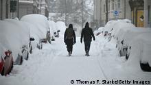 Deutschland Wetter l Kälte und Schnee in Bielefeld