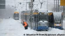 Deutschland Wetter l Kälte und Schnee in Sachsen