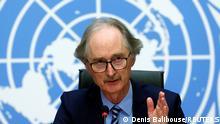 Schweiz Pressekonferenz nach Syriengesprächen in Genf