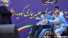 آغاز واکسیناسیون در ایران با تزریق واکسن اسپوتنیک وی به پسر وزیر بهداشت در حضور پدرش، بهمن ۱۳۹۹