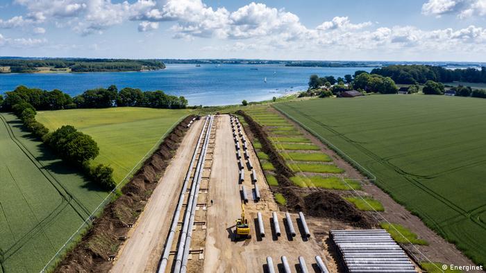 The Baltic Pipe pipeline runs across Denmark