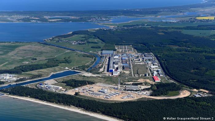 Кінцева точка газопроводу Північний потік-2 в німецькому Любміні