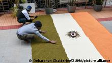 Indien I West Bengal I Farmer protestieren in Kalkutta
