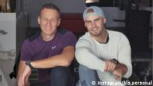 Personal Coach Björn Leber mit Alexei Navalny