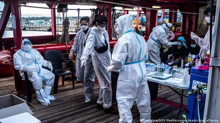 Italien Sizilien   Corona-Fälle auf Hilfsschiff «Ocean Viking»