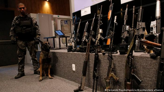 Display of confiscated weapons