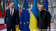 Belgien l Michel begrüßt den ukrainischen Premierminister Shmyhal