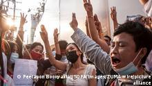 Thailand Bangkok Protest gegen Militärputsch in Myanmar
