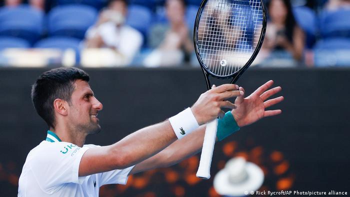 Australian Open Tennis Novak Djokovic - Frances Tiafoe